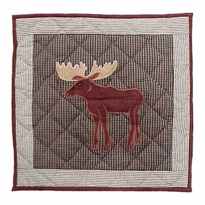 Moose Cotton Throw Pillow