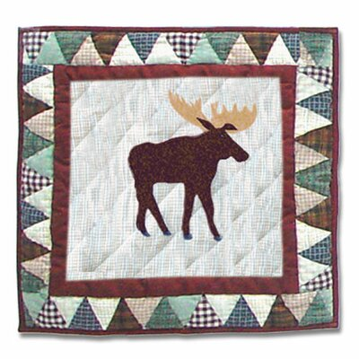 Mountain Whispers Moose Cotton Throw Pillow