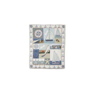 Nautical Cotton Throw Quilt