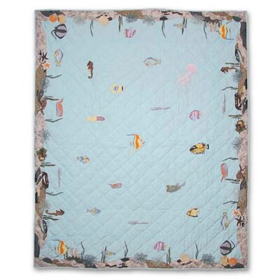 Underwater Haven Lap Throw Quilt