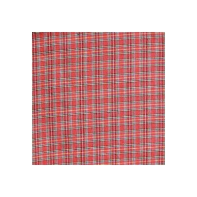 Red Plaid and Green Black Lines Bed Skirt / Dust Ruffle Size: Queen