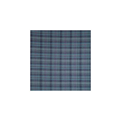 Navy and Light Blue Plaid Bed Skirt / Dust Ruffle Size: King