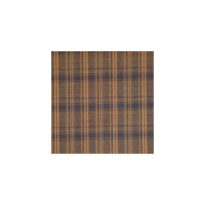 Dark Brown Plaid Bed Skirt / Dust Ruffle Size: King