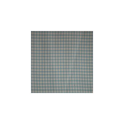 Blue Sky and White Gingham Checks Bed Skirt / Dust Ruffle Size: Queen
