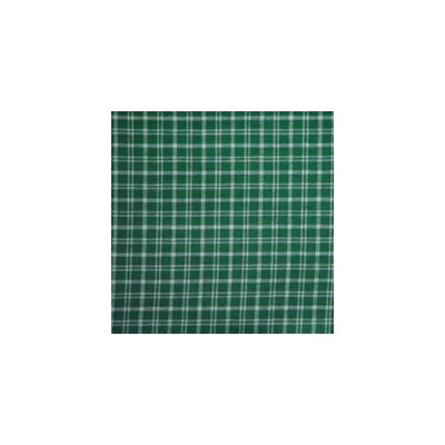 Green and White Plaid Bed Skirt / Dust Ruffle Size: King