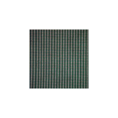 Green Hunter and Tan Checks Bed Skirt / Dust Ruffle Size: King