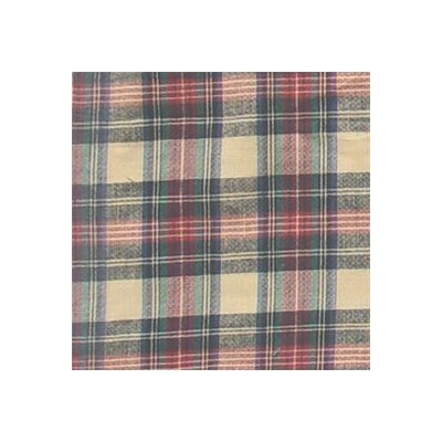 Cream Tartan Plaid Twin Bed Skirt / Dust Ruffle Size: Twin