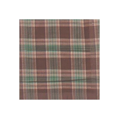 Brown and Green Plaid Bed Skirt / Dust Ruffle Size: Queen