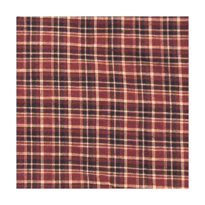 Wildhorse Horse Trail Maroon Plaid Cotton Throw Pillow