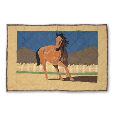 Wild Horses Cotton Sham Size: King