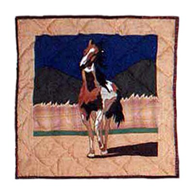 Wild Horses Cotton Throw Pillow