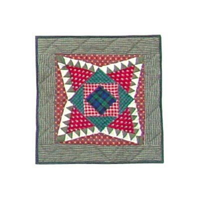 Yuletide Stars Cotton Throw Pillow