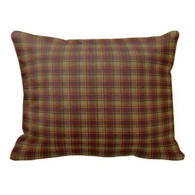 Tan & Gold Rustic Checks Pillow Sham