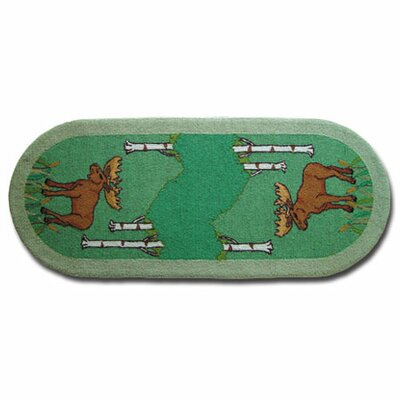 Moose Kids Rug Rug Size: Runner 26 x 6