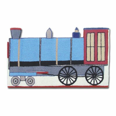 Train Blue Area Rug Rug Size: Novelty 2 x 34
