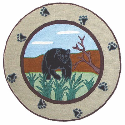 Bear Country Area Rug Rug Size: Round 3