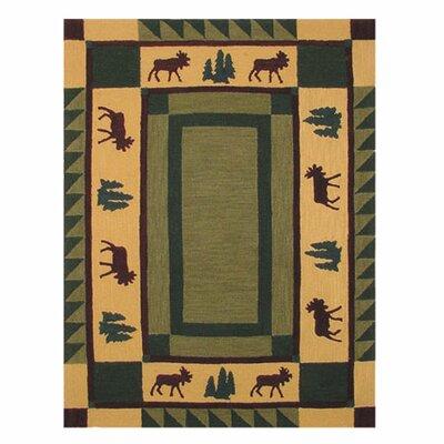 Cedar Moss / Tan Area Rug Rug Size: 310 x 51