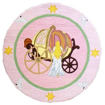 Fairy Tale Princess Pink Area Rug Rug Size: Round 3