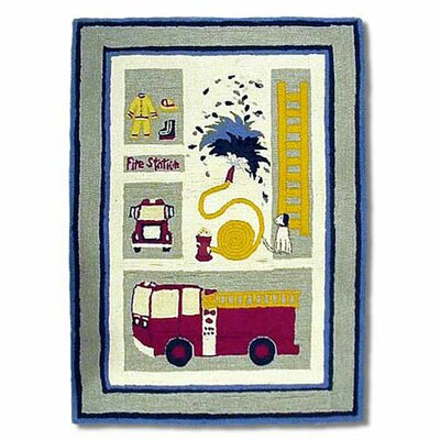 Fire Truck Yellow Area Rug Rug Size: Rectangle 310 x 51