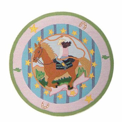 Lil Yeeehaw Kids Area Rug Rug Size: Round 3