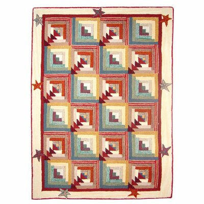 Woodland Star and Geese Fire Place Red Area Rug Rug Size: 310 x 51