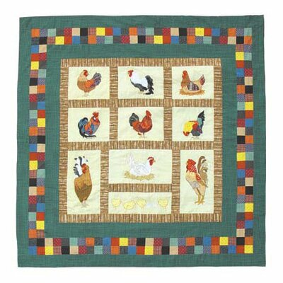 Rooster Cotton Shower Curtain