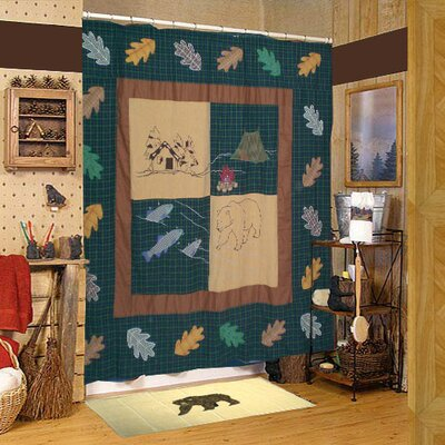 Cabin Cotton Shower Curtain