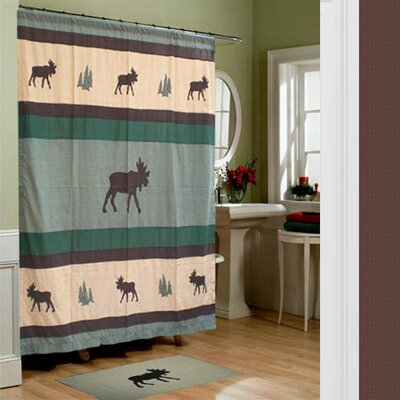 Cedar Trail Cotton Shower Curtain