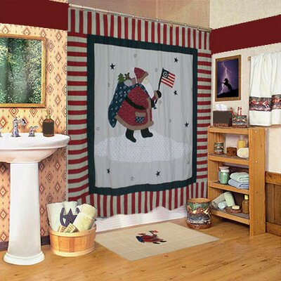 Colonial Santa Cotton Shower Curtain