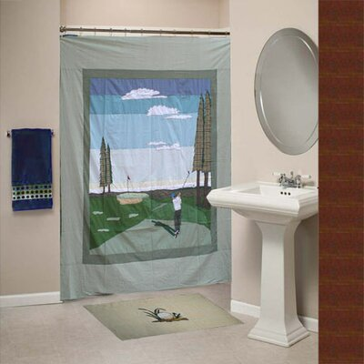 Golf Cotton Shower Curtain