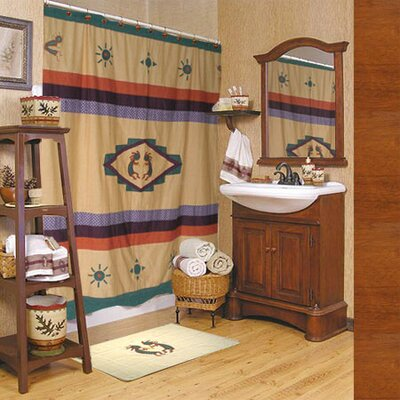 Kokoepelli Cotton Shower Curtain