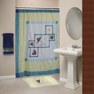 Summer Fun Cotton Shower Curtain