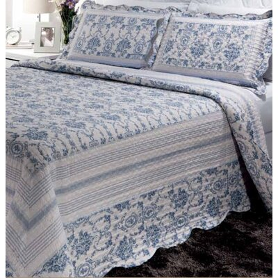 Wisteria Lattice 2 Piece Twin Reversible Quilt Set