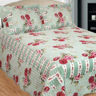 Russelliana Rest 3 Piece Reversible Quilt Set Size: Queen