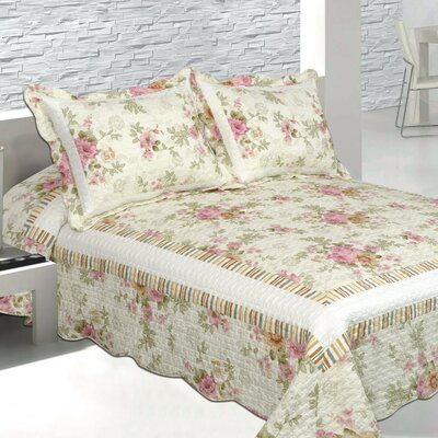 Pretty Vista 3 Piece Reversible Quilt Set Size: California King