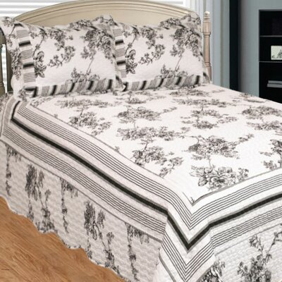 Past and Present 3 Piece Quilt Set Size: Queen