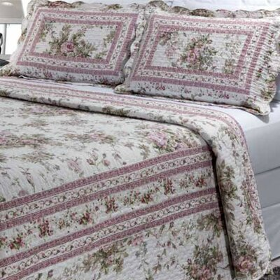 Primrose Garden 3 Piece Quilt Set Size: Super King