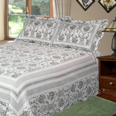Wisteria 3 Piece Quilt Set Size: Queen