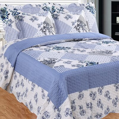Homers Slumber 3 Piece Reversible Quilt Set Size: Queen
