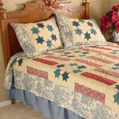 Mount Vernon Quilt Size: King