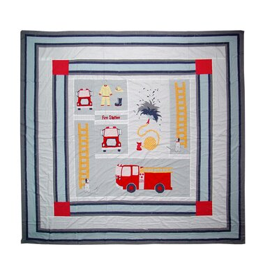 Fire Truck Quilt Size: Full / Queen