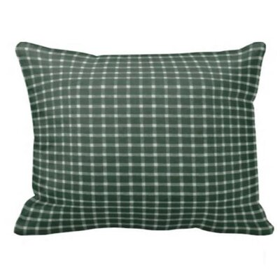 Green White Checks Pillow Sham