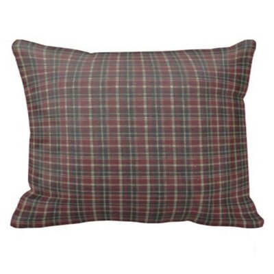 Maroon Red and Black Plaid Pillow Sham