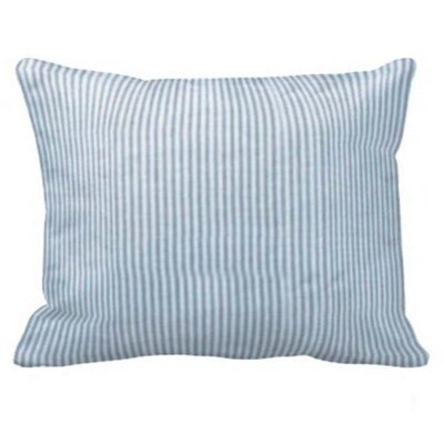 Blue and White Ticking Pillow Sham