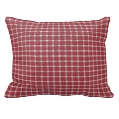 Red White Checks Pillow Sham