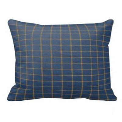 Plaid Pillow Sham Color: Blue Yellow