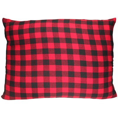 Twill Buffalo Check Cotton Lumbar Pillow