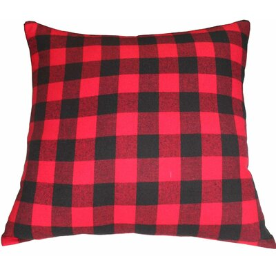 Twill Buffalo Check Fabric Euro Sham Color: Red
