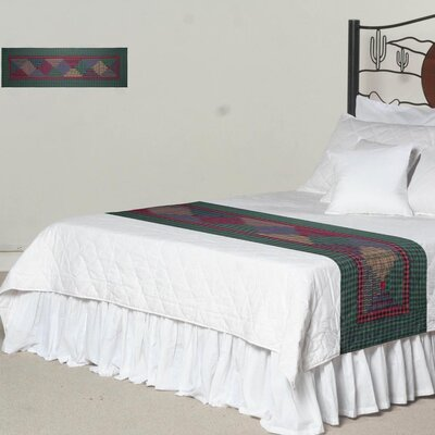 Tartan Log Cabin Bed Scarf Size: King