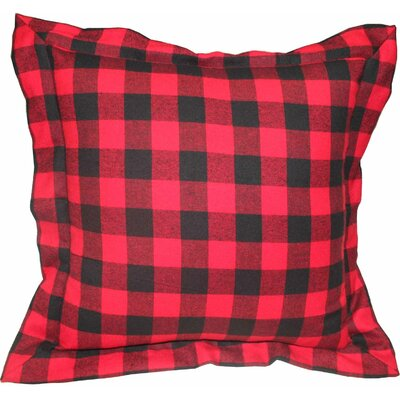 Twill Buffalo Check Flanged 100% Cotton Throw Pillow
